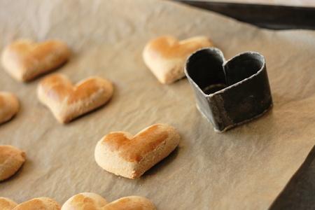 heart very: heart cookies as very nice valentine background