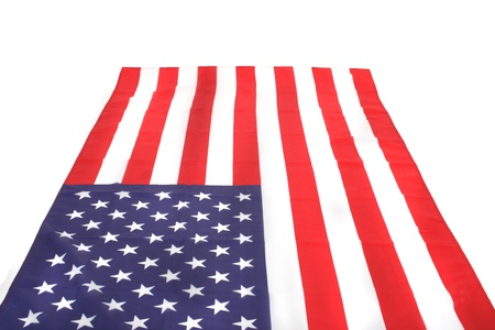 USA  flag texture as typical american background Stock Photo - 8676151