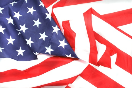 USA  flag texture as typical american background Stock Photo - 8676233