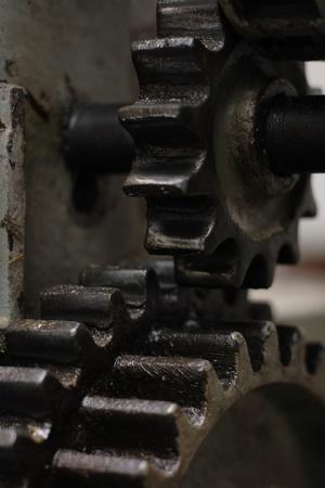 steel wheels as nice machine industry background photo