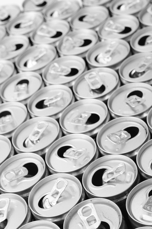 empty cans as very nice drink background photo