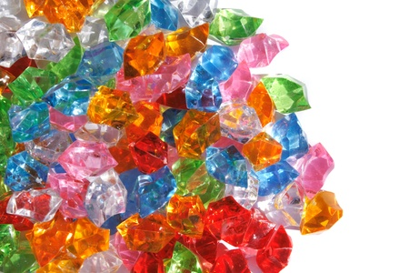 trillion: color gems  from plastic  Stock Photo
