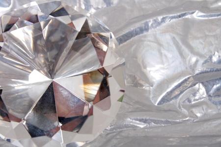 nice luxury diamond on the silver background Stock Photo - 9421730