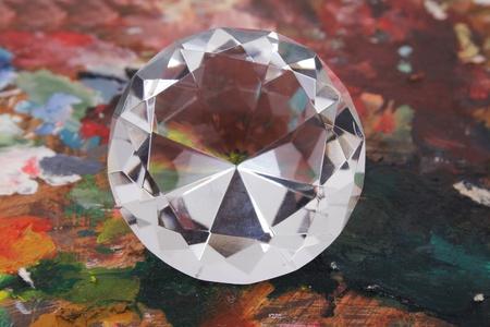 nice luxury diamond on the color background Stock Photo - 9421731