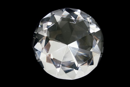 nice luxury diamond on the black background Stock Photo - 9421715