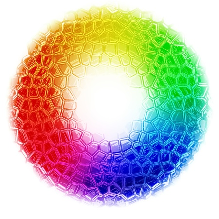 wheel: Abstract rainbow color background generated by the computer Stock Photo