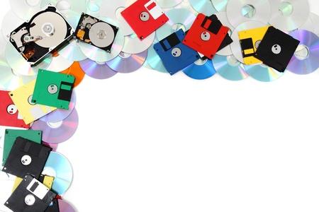 cd rw: data background (floppy dissc, dvd, cd-rom, harddrive)