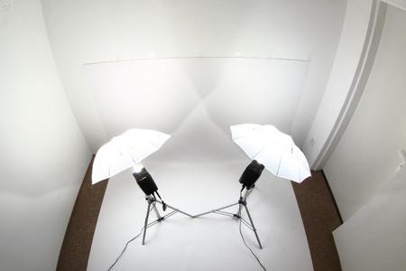 mi estudio peque�a foto con dos luces Foto de archivo - 9663861