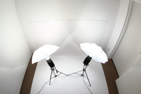 mi estudio pequeña foto con dos luces Foto de archivo - 9663861