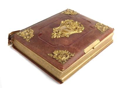 signet: antiguo libro aislada sobre fondo blanco
