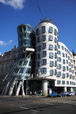 Dancing house in the Prague in the Czech republic