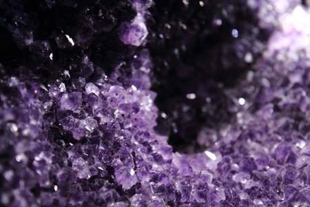 very nice natural violet amethyst mineral background  Stock Photo