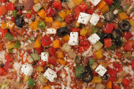 nice food: растительного пиццу, как очень хороший фон пищи Фото со стока