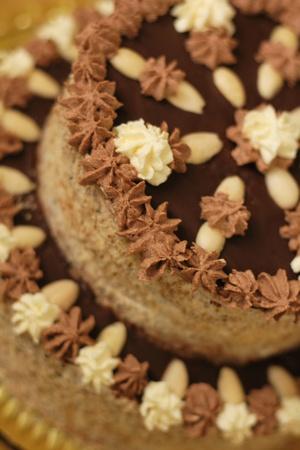 nice food: sweet birthday cake as very nice food background Фото со стока