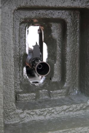 bombard: dettaglio della pistola dalla seconda guerra mondiale  Archivio Fotografico
