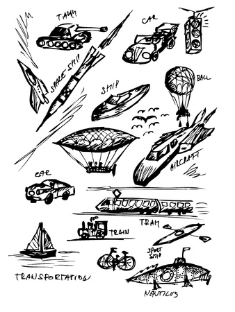 transportaion: hand drawn transportaion icons from my fantasy