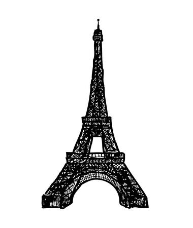 eifel: hand drawn eifel tower from my fantasy  Illustration