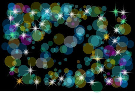 christmas color background with lights  on the dark background Stock Vector - 10027435