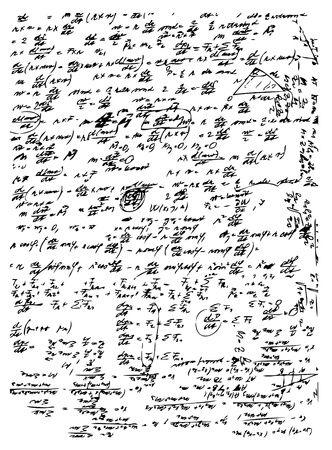 einstein: math symbols and texts isolated on the white background Illustration