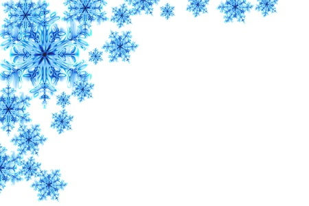 blue snowflakes isolated on the white background