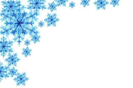 fiocchi di neve blu isolato su sfondo bianco Archivio Fotografico