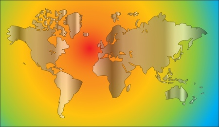 geography background: world map in rainbow colors as nice geography background