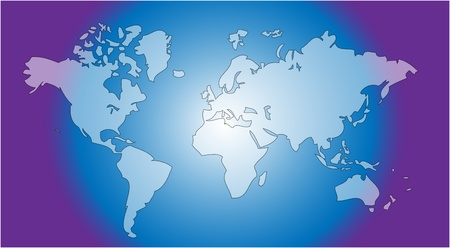 geography background: world map in blue as nice geography background