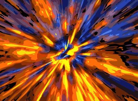 とても素敵な赤い青と黄色の背景として色の爆発