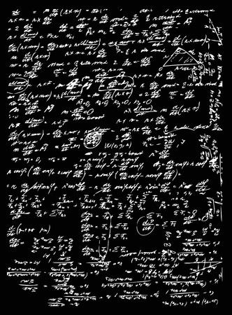 matematica e geometria isolato sul bordo nero