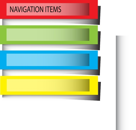 color navigation bars isolated on the white background Vector
