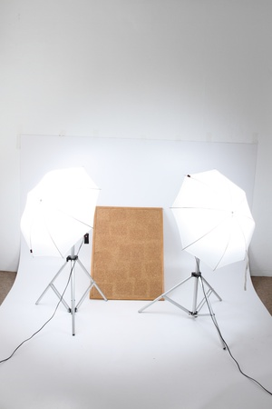 my very small home photo studio in the work room Stock Photo - 10861260