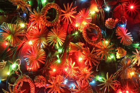 x mas: very nice christmas background with the color lights Stock Photo