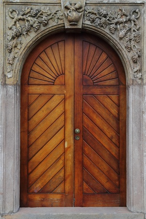 old door as very nice architecture background Stock Photo