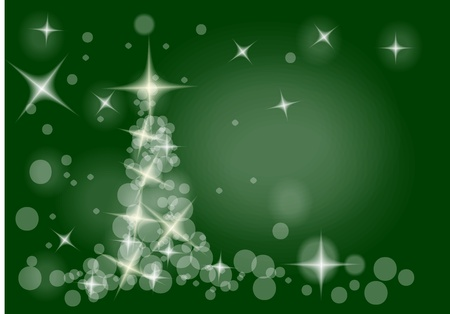 easy christmas tree in the white and green Stock Vector - 10963753