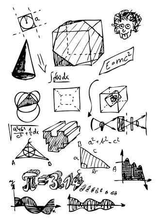 educative: math symbols isolated on the white background