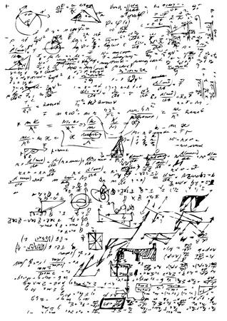 흰색 배경에 고립 된 고등학교 수학 기호