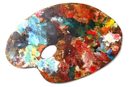 白い背景に分離された色パレット 写真素材