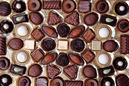 nice food: chocolade deserts as very nice food background