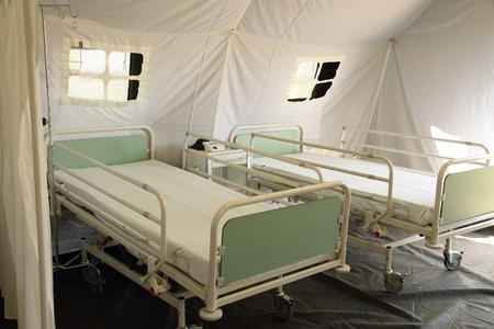 czech mobile army hospital for bilogy problems Stock Photo - 12279643