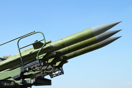 anti aircraft rockets against blue clear sky Stock Photo - 12279639