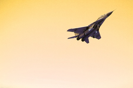 afterburner: aircraft in the sky on the yellow background