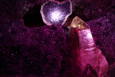 amethyst as very nice mineral violet background photo