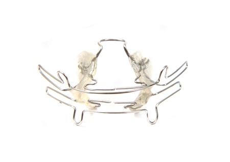 aparatos de ortodoncia (herramienta) aislado en el fondo blanco photo