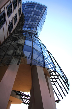 dancing house: dancing house in the Prague - old modern architecture