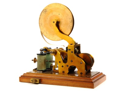 old telegraph isolated on the white background photo