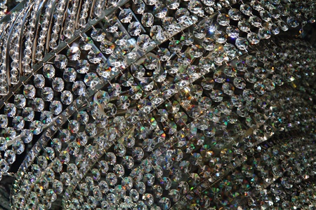 nice crystal background from the glass modern lamp  photo