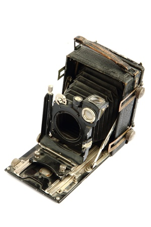 old photo camera isolated on the white background Stock Photo - 13203684