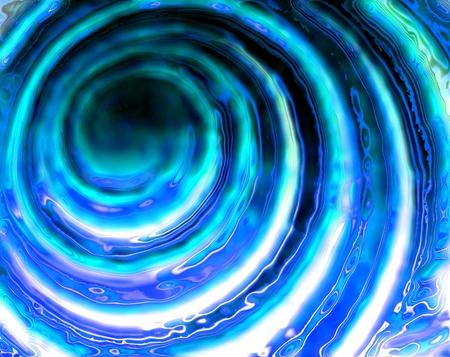 나선: 컴퓨터에 의해 생성 된 추상 물 돌리기