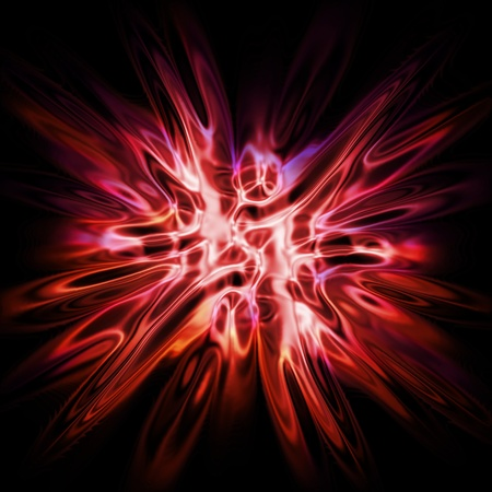 nice  explosion background generated by the computer  photo