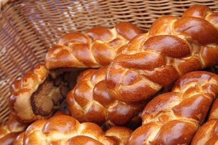 weihnachtskuchen: Tschechische Chritsmas Brot als gutes Essen Hintergrund Lizenzfreie Bilder
